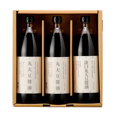大徳の国産丸大豆醤油 900ml 3本セット