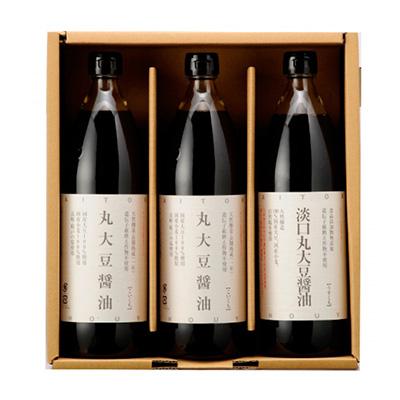 大徳の国産丸大豆醤油900ml3本セット